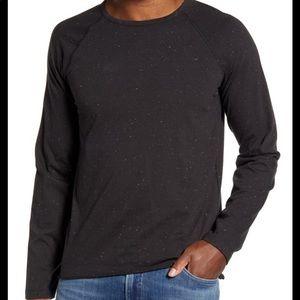 Billy Reid long sleeved tee shirt Sz L soft gray